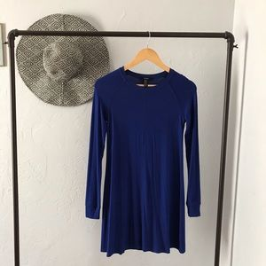 Long Sleeved Blue Dress